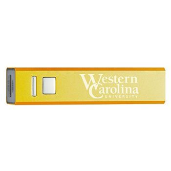 Western Carolina University - Portable Cell Phone 2600 mAh Power Bank Charger - Gold