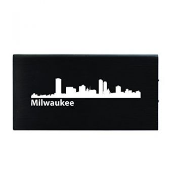 Milwaukee, Wisconsin-8000 mAh Portable Cell Phone Charger-Black