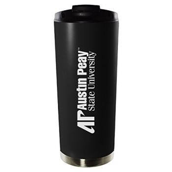 Austin Peay State University-16oz. Stainless Steel Vacuum Insulated Travel Mug Tumbler-Black