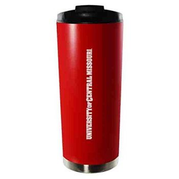 University of Central Missouri-16oz. Stainless Steel Vacuum Insulated Travel Mug Tumbler-Red