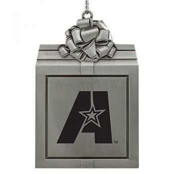 Louisiana State University of Alexandria-Pewter Christmas Holiday Present Ornament-Silver