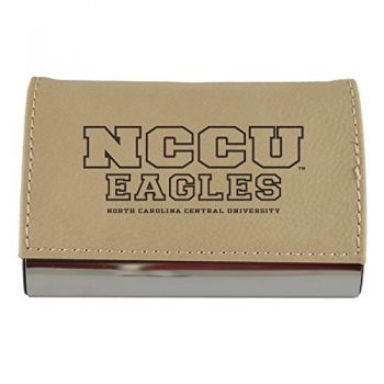 Velour Business Cardholder-North Carolina Central University-Tan