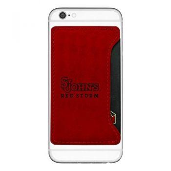 St. John's University-Cell Phone Card Holder-Red