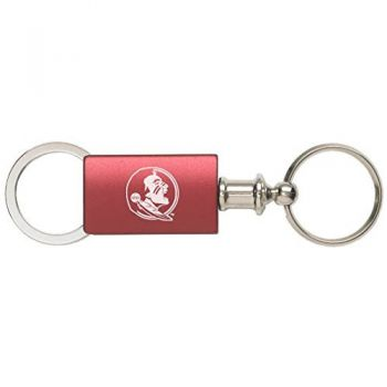 Florida State University - Anodized Aluminum Valet Key Tag - Burgundy