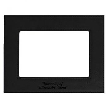 University of Wisconsin-Stout-Velour Picture Frame 4x6-Black
