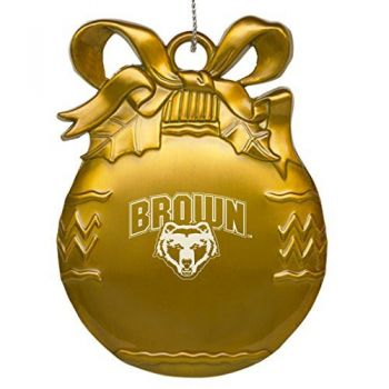 Brown University - Pewter Christmas Tree Ornament - Gold