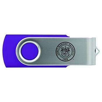 James Madison University-8GB 2.0 USB Flash Drive-Purple