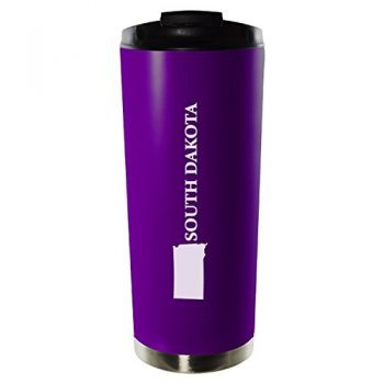 16 oz Vacuum Insulated Tumbler with Lid - South Dakota State Outline - South Dakota State Outline