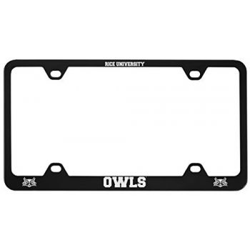 Rice University -Metal License Plate Frame-Black