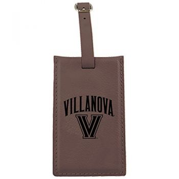 Villanova University -Leatherette Luggage Tag-Brown