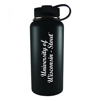University of Wisconsin-Stout-32 oz. Travel Tumbler-Black
