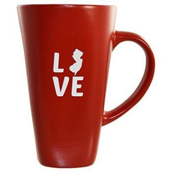16 oz Square Ceramic Coffee Mug - New Jersey Love - New Jersey Love