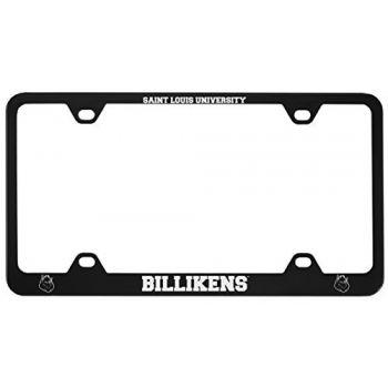 Saint Louis University -Metal License Plate Frame-Black