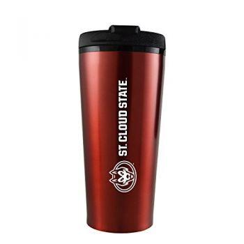 St. Cloud State University -16 oz. Travel Mug Tumbler-Red