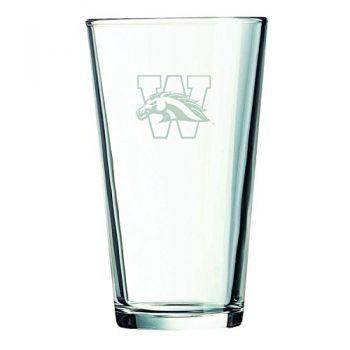 Western Michigan University-16 oz. Pint Glass