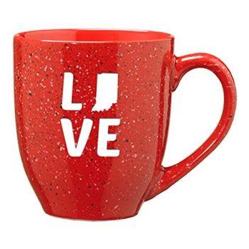 16 oz Ceramic Coffee Mug with Handle - Indiana Love - Indiana Love