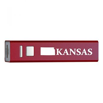 Kansas-State Outline-Portable 2600 mAh Cell Phone Charger-