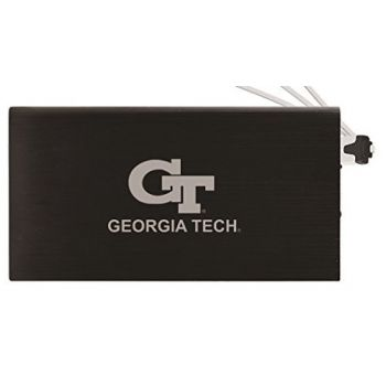 8000 mAh Portable Cell Phone Charger-Georgia Institute of Technology -Black