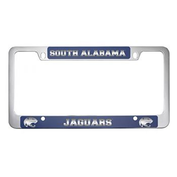 University of South Alabama -Metal License Plate Frame-Blue