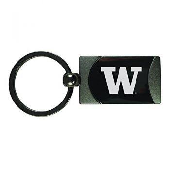 University of Washington-Two-Toned Gun Metal Key Tag-Gunmetal