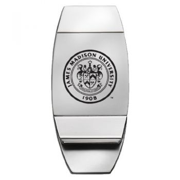 James Madison University - Two-Toned Money Clip - Silver