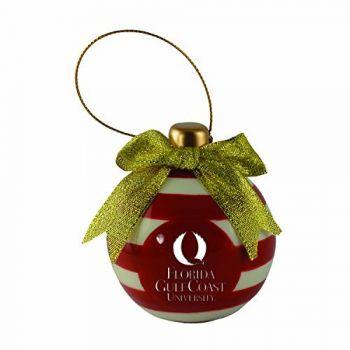 Florida Gulf Coast University -Christmas Bulb Ornament