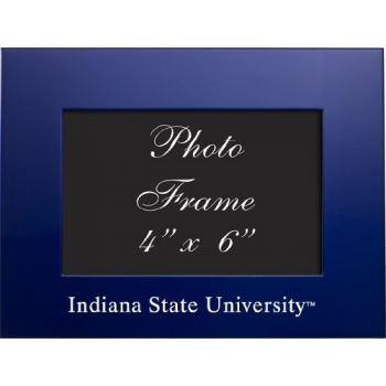 Indiana State University - 4x6 Brushed Metal Picture Frame - Blue