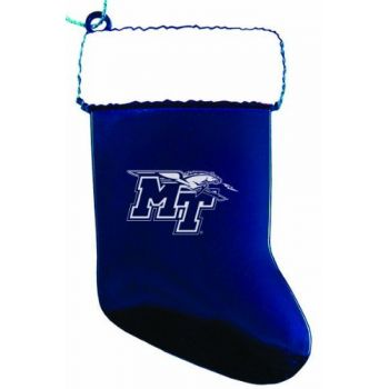 Middle Tennessee State University - Chirstmas Holiday Stocking Ornament - Blue