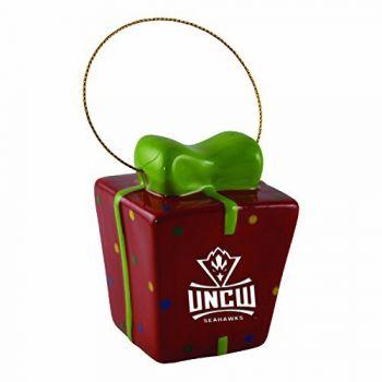 University of North Carolina Wilmington-3D Ceramic Gift Box Ornament