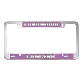 Longwood University-Metal License Plate Frame-Pink