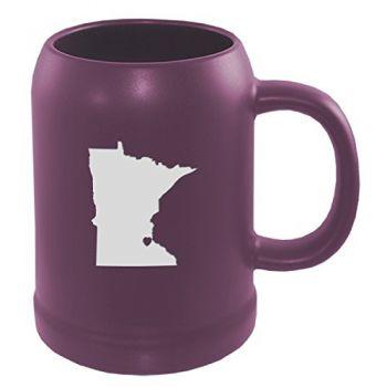 22 oz Ceramic Stein Coffee Mug - I Heart Minnesota - I Heart Minnesota