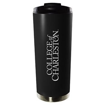 College of Charleston-16oz. Stainless Steel Vacuum Insulated Travel Mug Tumbler-Black