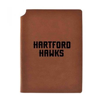 University of Hartford Velour Journal with Pen Holder|Carbon Etched|Officially Licensed Collegiate Journal|