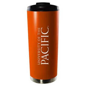 University of the Pacific-16oz. Stainless Steel Vacuum Insulated Travel Mug Tumbler-Orange