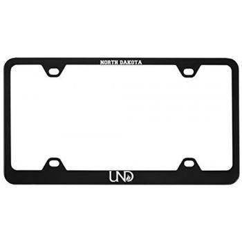 University of North Dakota-Metal License Plate Frame-Black