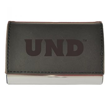 Velour Business Cardholder-University of North Dakota-Black