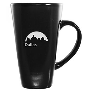 16 oz Square Ceramic Coffee Mug - Dallas City Skyline
