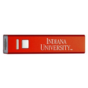Indiana University - Portable Cell Phone 2600 mAh Power Bank Charger - Red