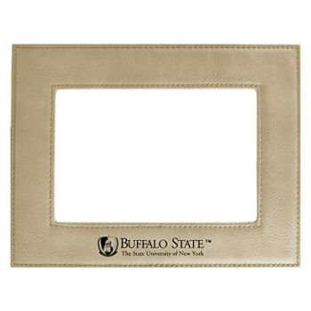 Buffalo State University-The State University of New York-Velour Picture Frame 4x6-Tan