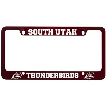 Southern Utah University -Metal License Plate Frame-Red