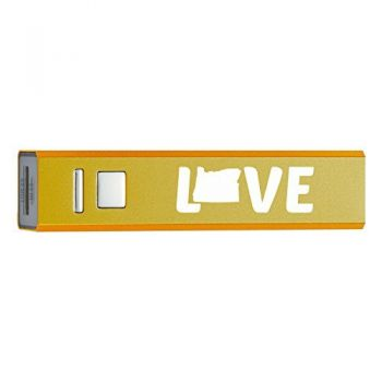 Oregon-State Outline-Love-Portable 2600 mAh Cell Phone Charger-