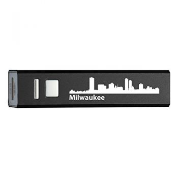 Milwaukee, Wisconsin-Portable 2600 mAh Cell Phone Charger-BLK