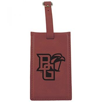 Bowling Green State University -Leatherette Luggage Tag-Burgundy