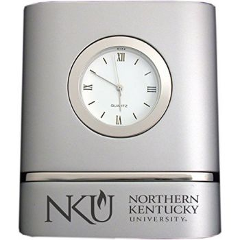 Northern Kentucky University- Two-Toned Desk Clock -Silver