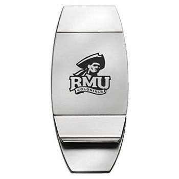 Robert Morris University - Two-Toned Money Clip - Silver