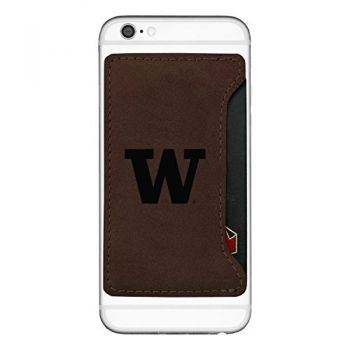 University of Washington-Cell Phone Card Holder-Brown