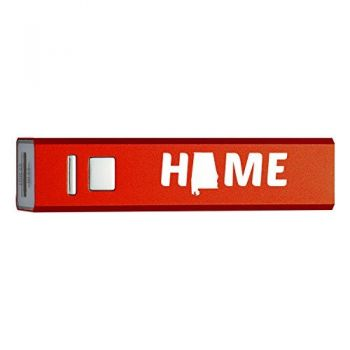 Alabama-State Outline-Home-Portable 2600 mAh Cell Phone Charger-