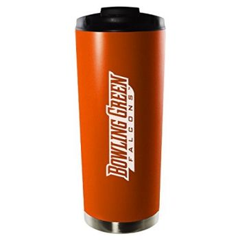 Bowling Green State University-16oz. Stainless Steel Vacuum Insulated Travel Mug Tumbler-Orange