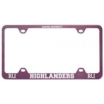 Radford University -Metal License Plate Frame-Pink