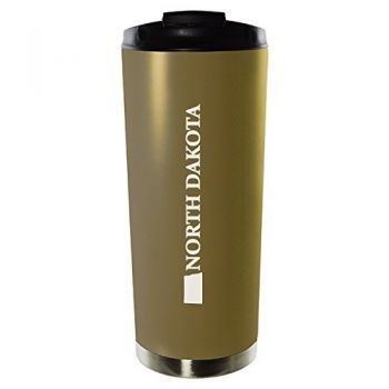 16 oz Vacuum Insulated Tumbler with Lid - North Dakota State Outline - North Dakota State Outline